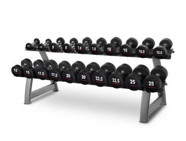 Titanium Strength Dumbbell Set 2,5- 25Kg + Rack