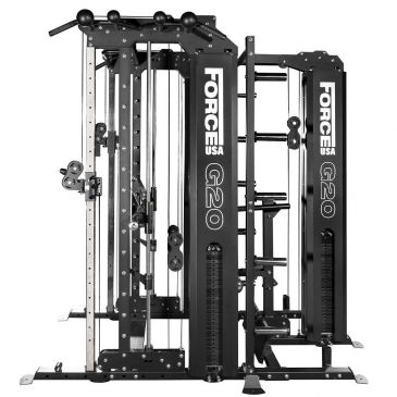 Force USA G20 Functional Trainer , Smith Machine, Squat Rack, Vertical Leg Press, Lat Pull Down & Low Row, Multistation, Gym, Workout, Fitness, Home Gym, Pulley,