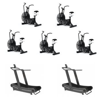 Titanium Strength Pack 5 AirBike + 2 Curved Treadmills