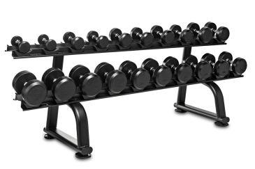 Titanium Strength Set Manubri di Gomma 7,5 - 30Kg + Rack