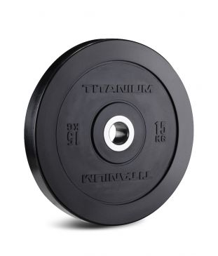 DIscos Olimpicos Titanium Strength 15kg, Fitness, Crossfit, Workout, Home Gym, Arms, Chest, Shoulders, Power Cage, Functional