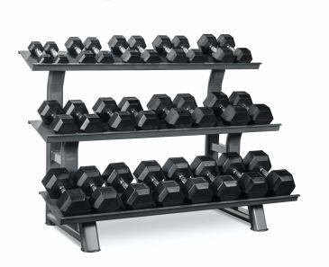 Titanium Strength Hex Dumbbell Set 2- 30Kg + Rack, Strength, Workout, Home Gym, Fitness, Crossfit