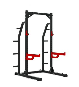Titanium Strength Commercial HD Half Rack - X Line, Strength, Workout, Home Gym, Fitness, Crossfit