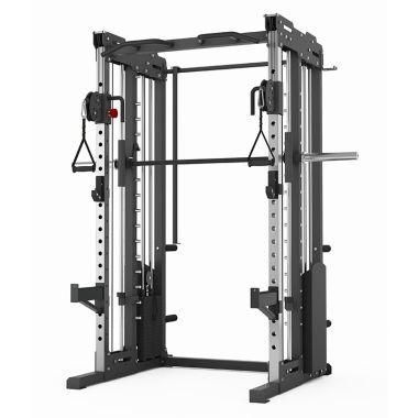 Titanium Strength Professionale Stazione Multifunzionale, Dual Puley, Smith Machine e Power Rack