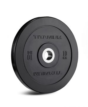 Bumper Plates Titanium Strength 10 KG, Fitness, Crossfit, Workout, Home Gym, Arms, Chest, Shoulders, Power Cage, Functional