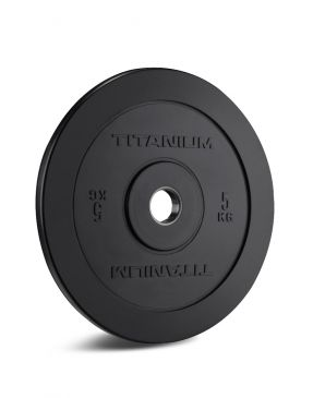 Titanium Strength HD Bumper Plates Black 5 KG, Fitness, Crossfit, Workout, Home Gym, Arms, Chest, Shoulders, Power Cage, Functional