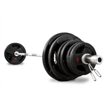 Titanium Strength 80kg Olympic Rubber Radial Kit, Fitness, Crossfit, Workout, Home Gym, Arms, Chest, Shoulders, Power Cage, Functional