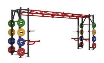 Titanium Strength Commercial Athletic Bridge Rack - X Line Fitness, Crossfit, Workout, Home Gym, Arms, Chest, Shoulders, Power Cage, Functional