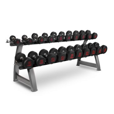 Titanium Strength Dumbbells Set 2,5- 25Kg + Rack, Strength, Workout, Home Gym, Fitness, Crossfit